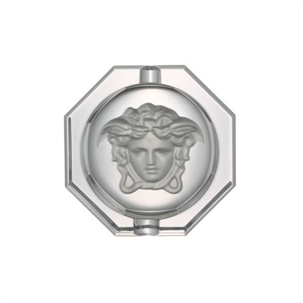 Versace Medusa Lumiere Ashtray Crystal 6 1/4 inch