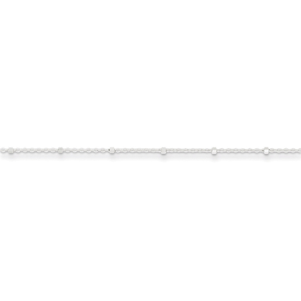 10 Inch 1.25mm Rolo with Beads Anklet Sterling Silver MPN: QFC163-10