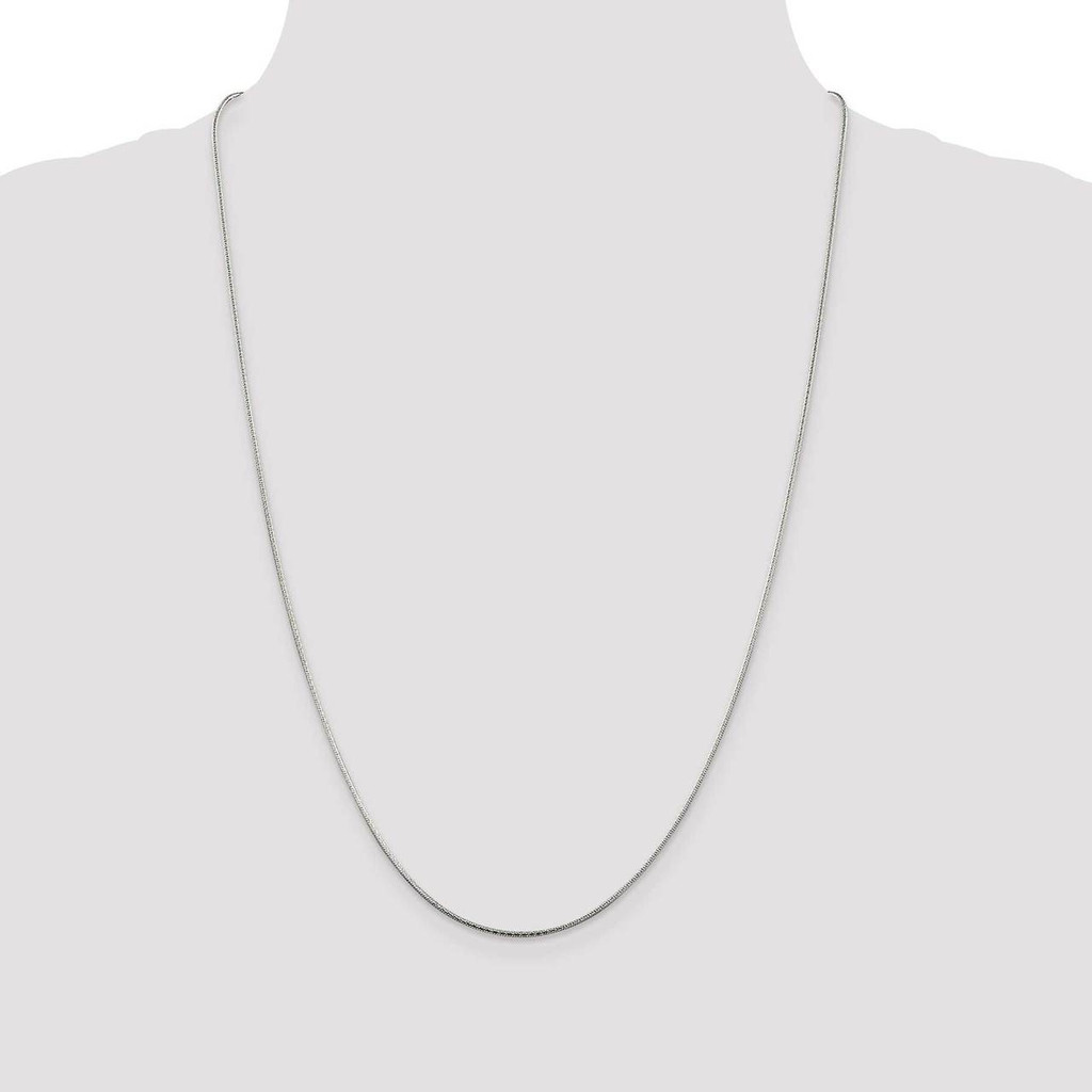 16 Inch 1.25mm Round Snake Chain Sterling Silver QFS16-16