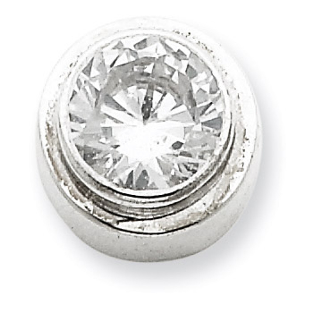 6mm Diamond Round Slide Sterling Silver MPN: QP819