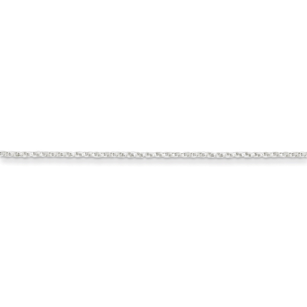18 Inch 1.25mm Twisted Box Chain Sterling Silver QPE26-18 UPC: 883957083162