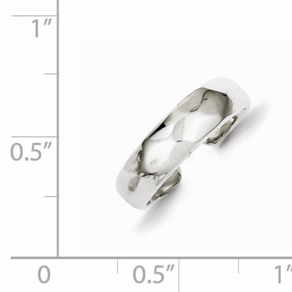 Polished Domed Toe Ring Sterling Silver Solid QR854