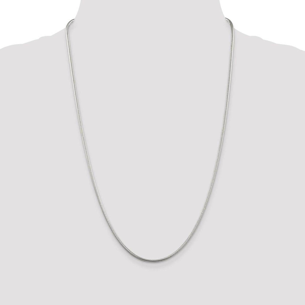 20 Inch 2mm Round Snake Chain Sterling Silver QSN060-20