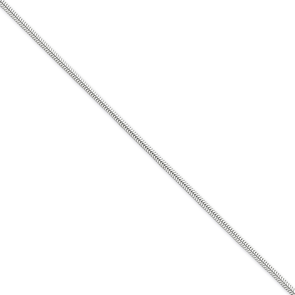 20 Inch 2mm Round Snake Chain Sterling Silver QSN060-20 UPC: 883957257518