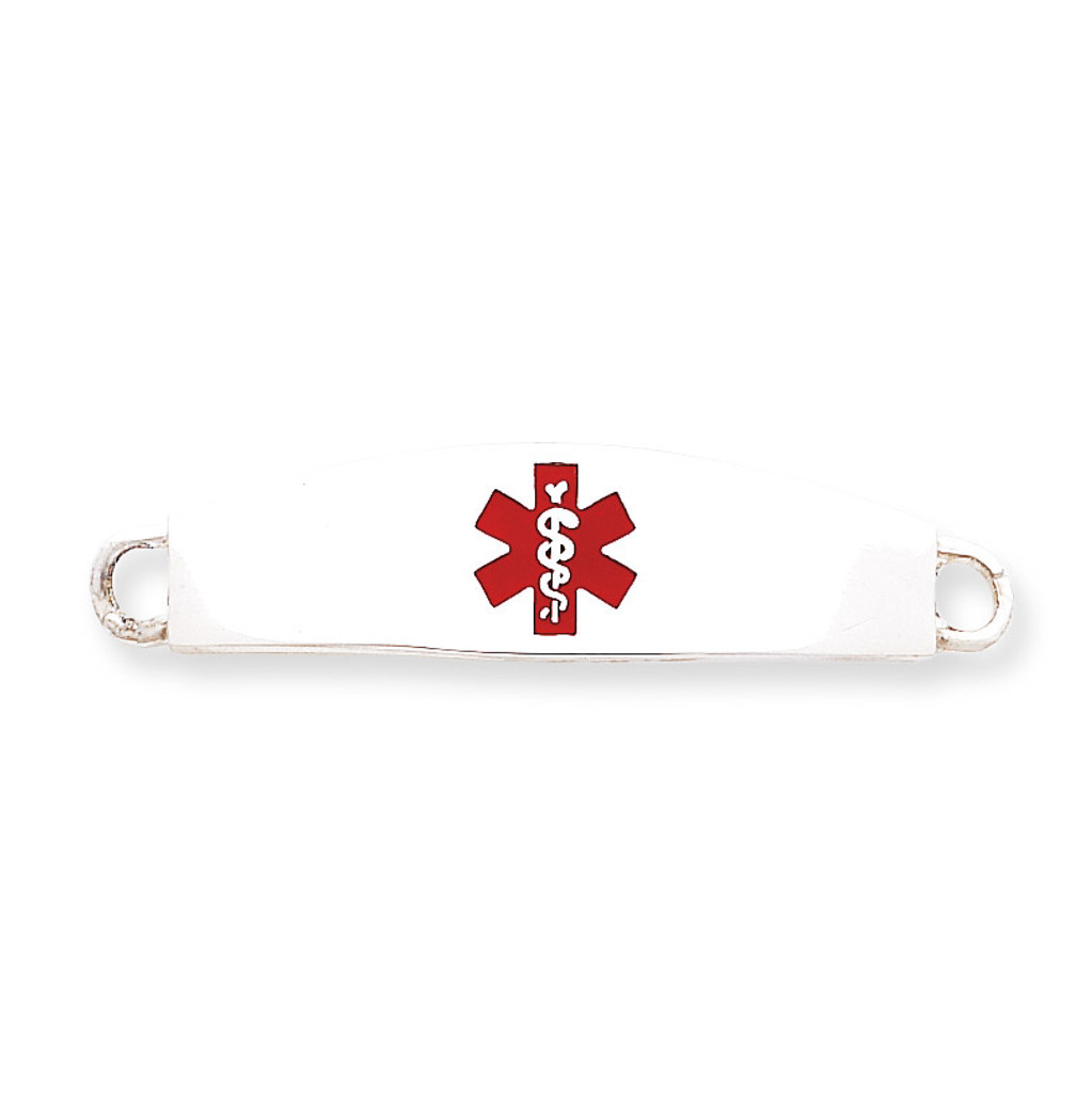 Medical ID Plate Sterling Silver MPN: XSM11