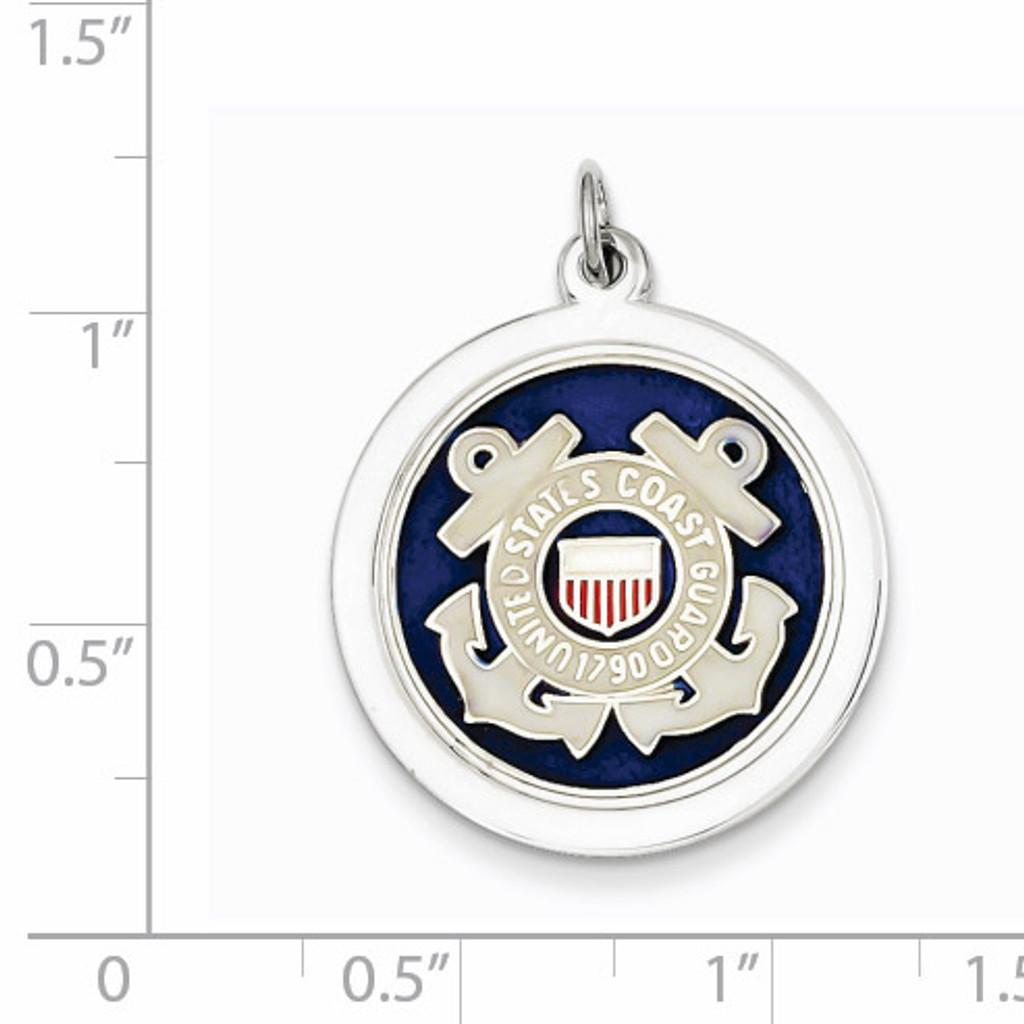 US Coast Guard Disc Charm Sterling Silver XSM148