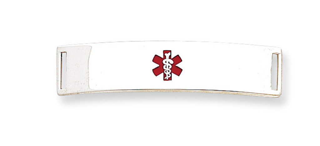 Medical ID Plate Sterling Silver MPN: XSM71
