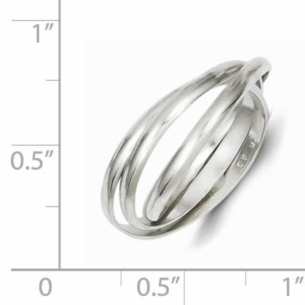Triple Intertwining Ring Sterling Silver QR1812