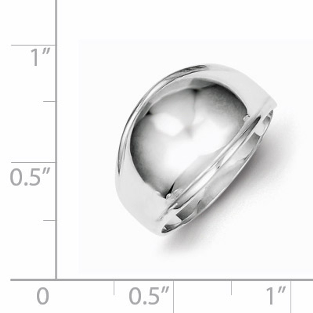 Polished Domed Ring Sterling Silver Fancy QR400