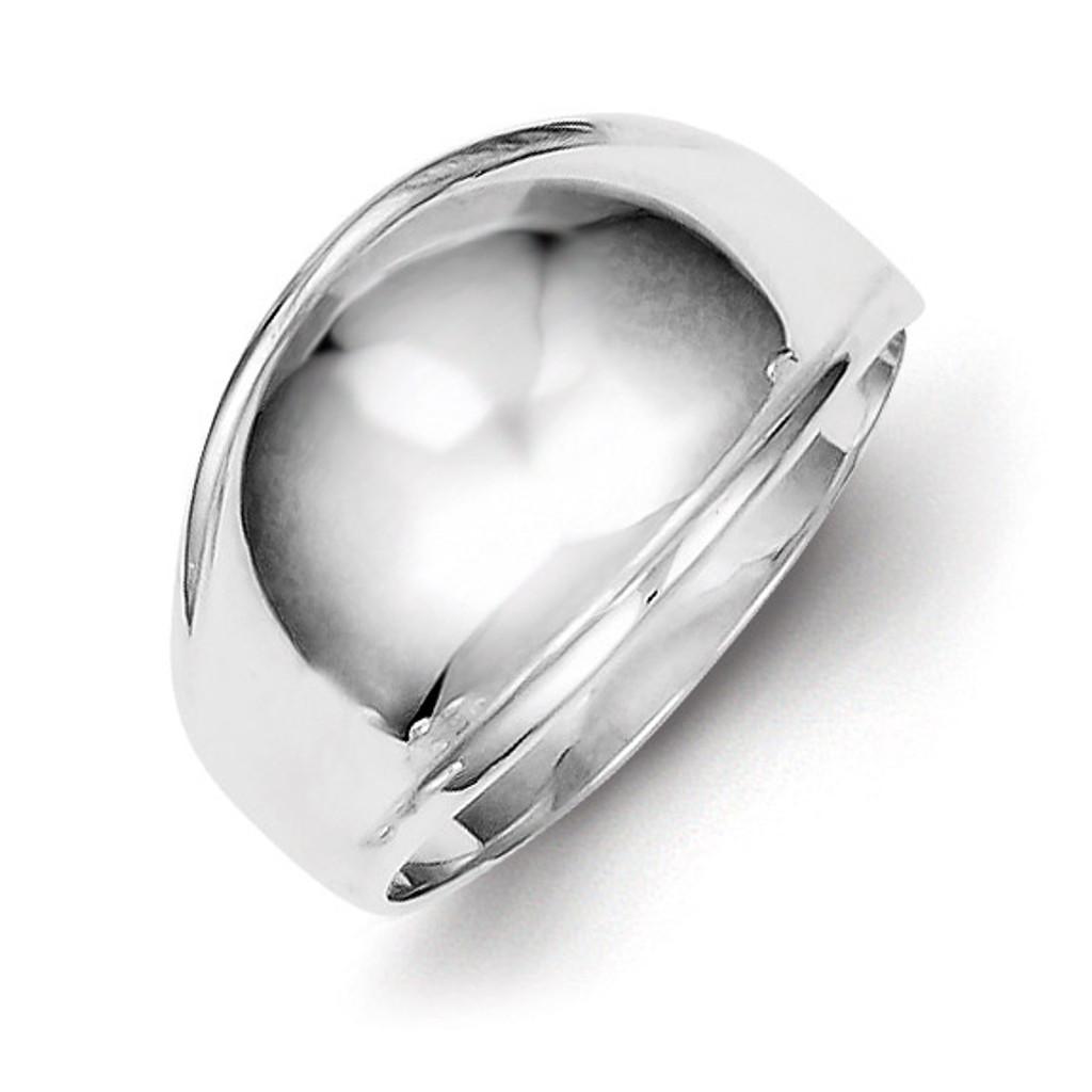 Polished Domed Ring Sterling Silver Fancy MPN: QR400
