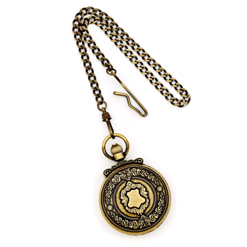 Charles Hubert Antique Gold Finish Shield Pocket Watch XWA3354