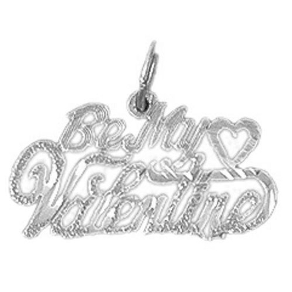 Be My Valentine Charm Bracelet or Pendant Necklace in Yellow, White or Rose Gold DZ-10155 by Dazzlers