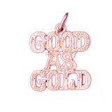 Good As Gold Pendant Necklace Charm Bracelet in Gold or Silver 10569