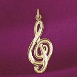 Musical Note Pendant Necklace Charm Bracelet in Gold or Silver 6266
