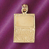 Office Computer Laptop Pendant Necklace Charm Bracelet in Gold or Silver 6436