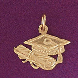 Graduation Pendant Necklace Charm Bracelet in Gold or Silver 6474