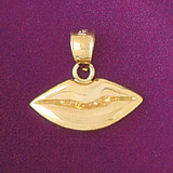 Lip Charm Bracelet or Pendant Necklace in Yellow, White or Rose Gold DZ-6522 by Dazzlers