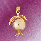 Pomegranate Fruit Pendant Necklace Charm Bracelet in Gold or Silver 6853