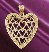 Crown Heart Gladdah Charm Bracelet or Pendant Necklace in Yellow, White or Rose Gold DZ-7072 by Dazzlers