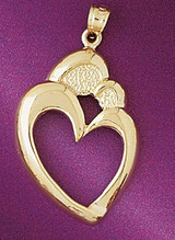 Crown Heart Gladdah Charm Bracelet or Pendant Necklace in Yellow, White or Rose Gold DZ-7077 by Dazzlers
