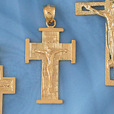 Jesus Christ on Cross Pendant Necklace Charm Bracelet in Gold or Silver 8453