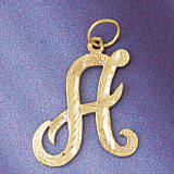 Initial A Classic Charm Bracelet or Pendant Necklace in Yellow, White or Rose Gold DZ-9559a by Dazzlers