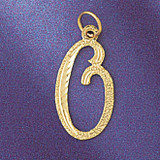 Initial O Classic Charm Bracelet or Pendant Necklace in Yellow, White or Rose Gold DZ-9559o by Dazzlers