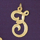 Initial Z Classic Charm Bracelet or Pendant Necklace in Yellow, White or Rose Gold DZ-9559z by Dazzlers