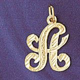 Initial A Classic Charm Bracelet or Pendant Necklace in Yellow, White or Rose Gold DZ-9560a by Dazzlers