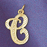 Initial C Classic Charm Bracelet or Pendant Necklace in Yellow, White or Rose Gold DZ-9560c by Dazzlers
