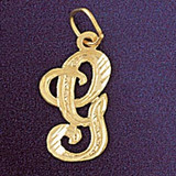 Initial G Classic Charm Bracelet or Pendant Necklace in Yellow, White or Rose Gold DZ-9560g by Dazzlers