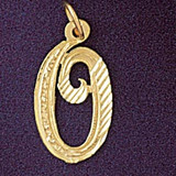 Initial O Classic Charm Bracelet or Pendant Necklace in Yellow, White or Rose Gold DZ-9560o by Dazzlers