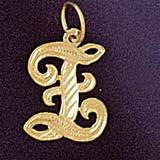 Initial Z Classic Charm Bracelet or Pendant Necklace in Yellow, White or Rose Gold DZ-9560z by Dazzlers