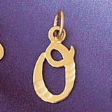Initial O Charm Bracelet or Pendant Necklace in Yellow, White or Rose Gold DZ-9564o by Dazzlers