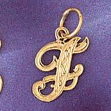 Initial F Charm Bracelet or Pendant Necklace in Yellow, White or Rose Gold DZ-9565f by Dazzlers