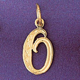 Initial O Charm Bracelet or Pendant Necklace in Yellow, White or Rose Gold DZ-9565o by Dazzlers