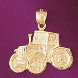 Tractor Charm Bracelet or Pendant Necklace in Yellow, White or Rose Gold DZ-4308 by Dazzlers