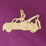 Towing Truck Pendant Necklace Charm Bracelet in Gold or Silver 4318