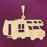 Caravan Rv Pendant Necklace Charm Bracelet in Gold or Silver 4358