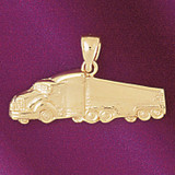Truck Pendant Necklace Charm Bracelet in Gold or Silver 4367