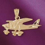 Airplane Pendant Necklace Charm Bracelet in Gold or Silver 4448