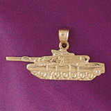 Tank Pendant Necklace Charm Bracelet in Gold or Silver 4516