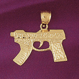 Gun Pendant Necklace Charm Bracelet in Gold or Silver 4530