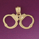 Handcuff Pendant Necklace Charm Bracelet in Gold or Silver 4566