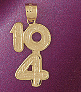 10 4 104 Pendant Necklace Charm Bracelet in Gold or Silver 4570