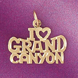 I Love Grand Canyon Pendant Necklace Charm Bracelet in Gold or Silver 4876