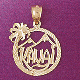 Kauai Hawaii Pendant Necklace Charm Bracelet in Gold or Silver 4956