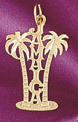 Jamaica Pendant Necklace Charm Bracelet in Gold or Silver 5032