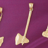 Native American Indian Hatchet Pendant Necklace Charm Bracelet in Gold or Silver 5299