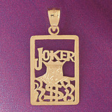 Playing Cards Joker Pendant Necklace Charm Bracelet in Gold or Silver 5473